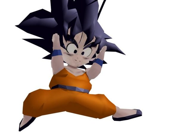 3ds max son goku young