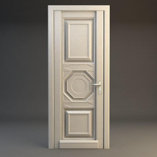 door wood wooden 3d 3ds