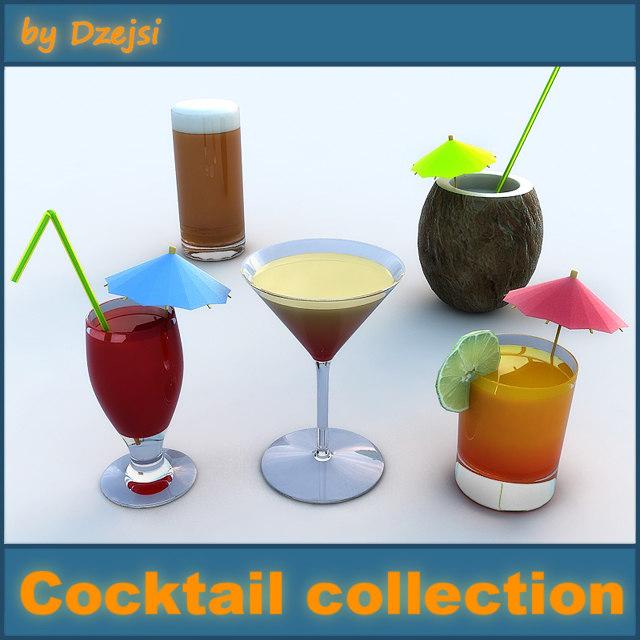 cocktails 3d model