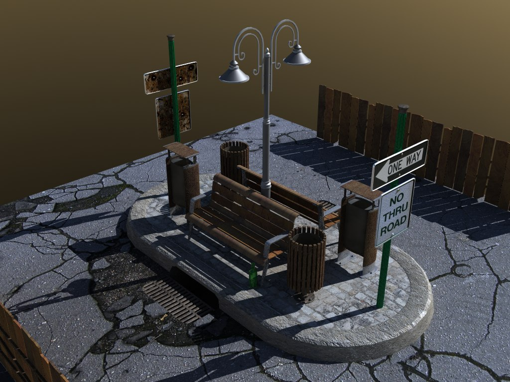 free objects bank rubbish 3d model