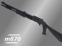 remington 870 tactical shotgun 3d model
