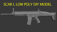 SCAR L low poly DIY