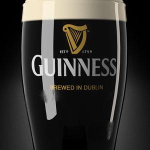 3d model irish beer guinness