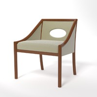 3d 3ds chair cha