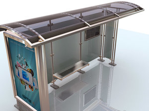 bus shelter 3d max