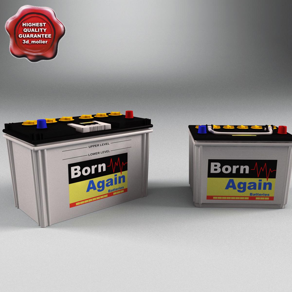 car battery born 3d obj