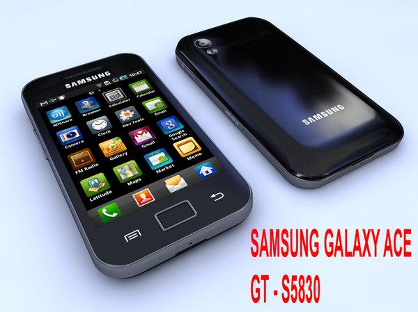 samsung gt-s5830 ace 3d model