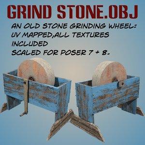 3d model of stone grinding