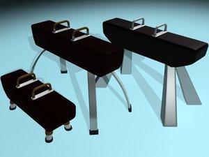 3d gymnastic pommel horse model