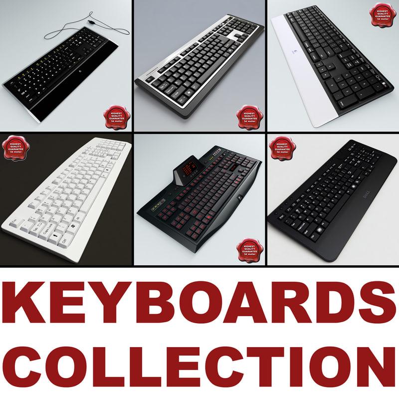 3d model keyboards v3
