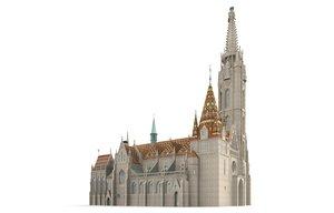 3d matthias church budapest