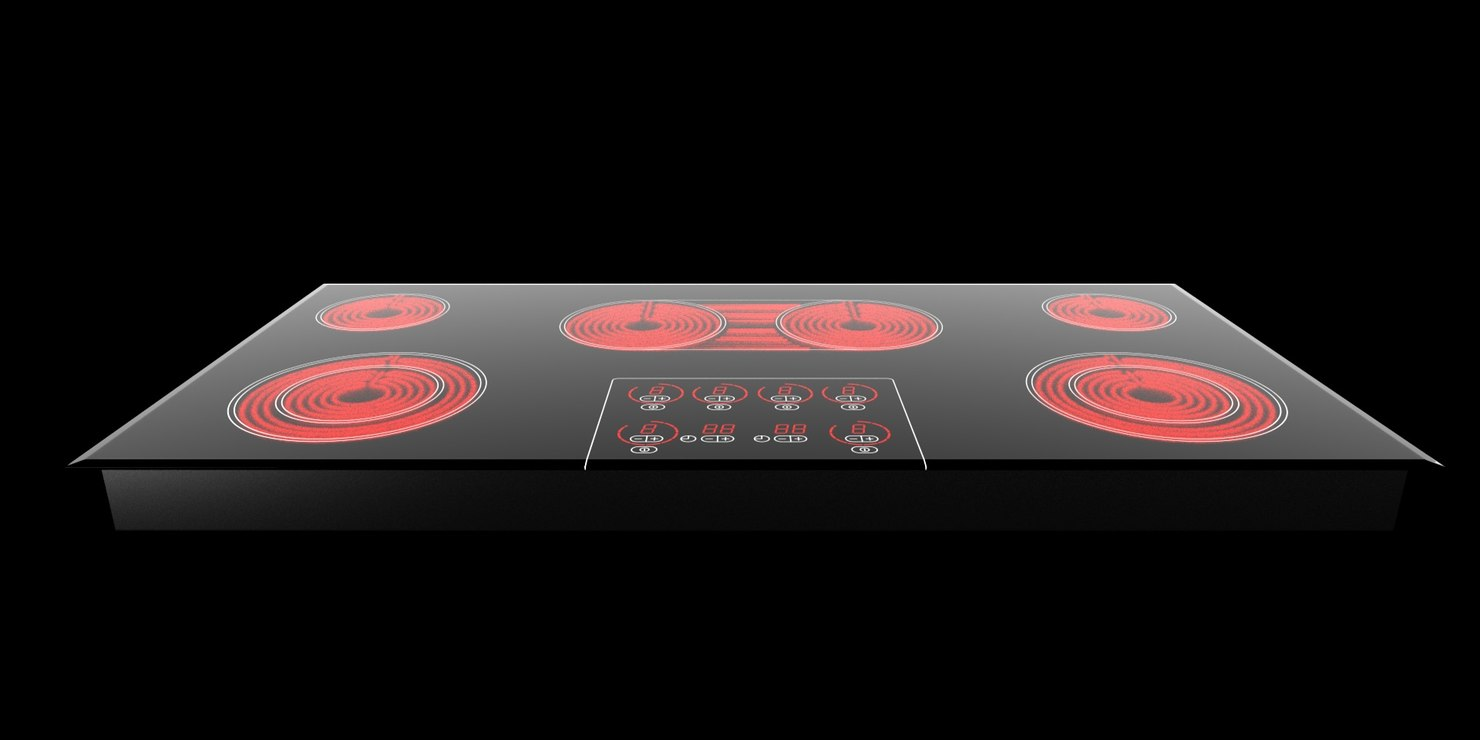 miele km452 cooktop 3d model