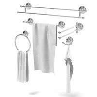 Nicolazzi Monocomandi ACCESSORIES  bathroom towel ring hook holder classic rail two accessory