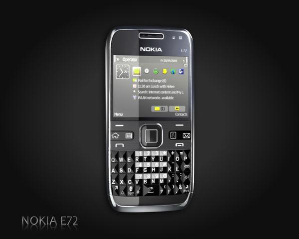 nokia e72 e 3d model