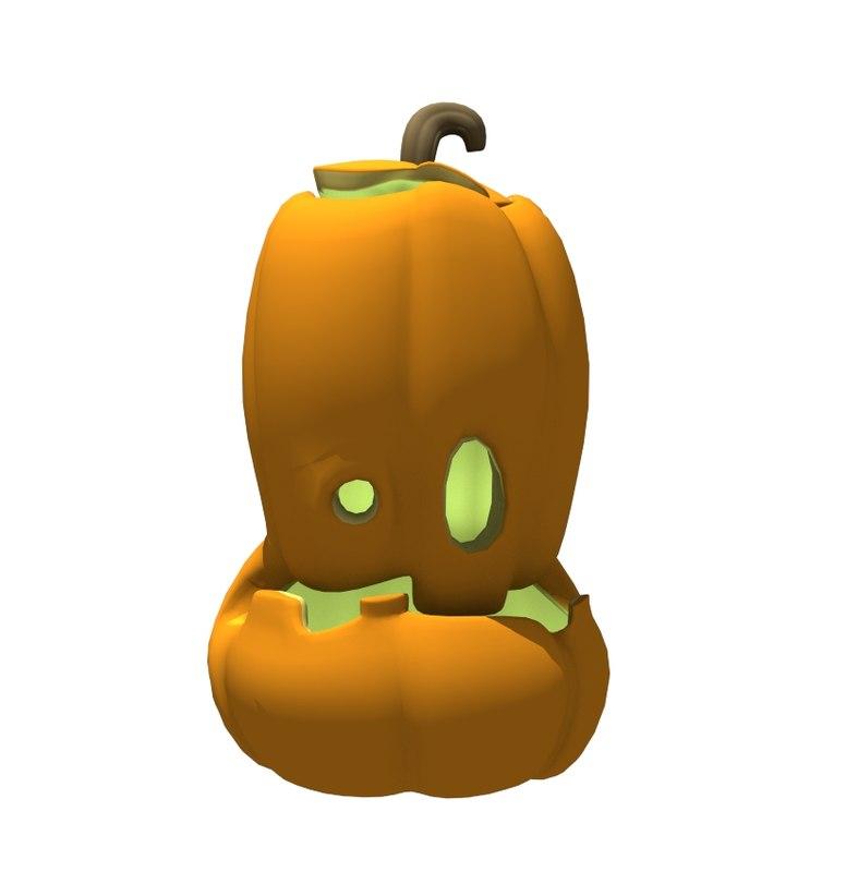 halloween pumpkin 3d model