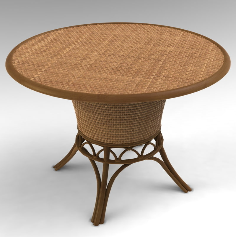3d garden bamboo table model