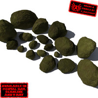 smooth rocks stones - 3d obj