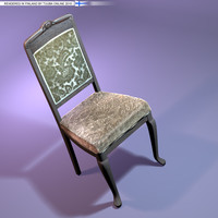 Rococo Chair - 29k - OBJ - TuubaOnline