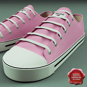 shoes pro keds 3d c4d