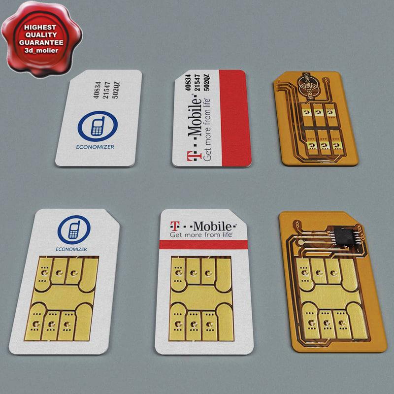 3d sim cards set