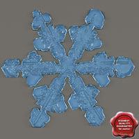 3d snowflake v2 model