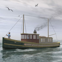 3ds max sockeye fishing boat