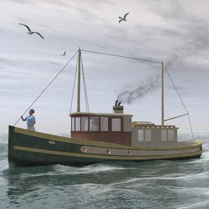 3ds max sockeye fishing boat