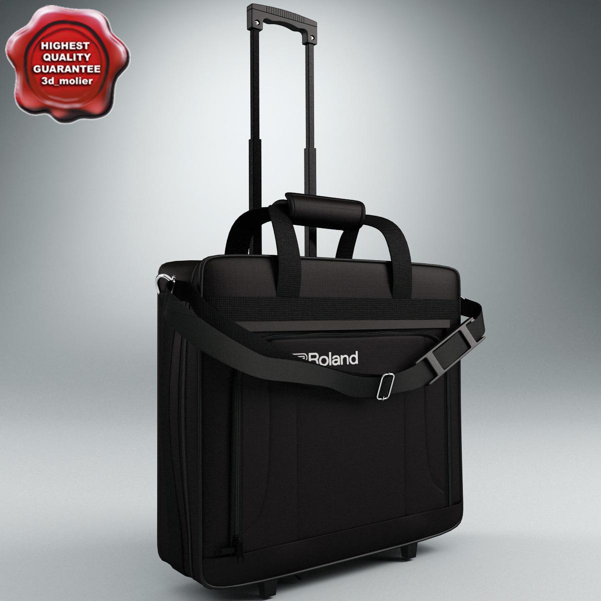 wheeled travel bag 3d obj
