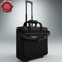 wheeled travel bag 3d obj