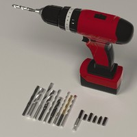 drill machine + drills and screwdrivers
