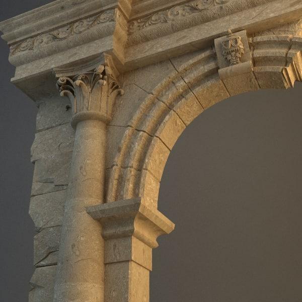 stone arch 3d max