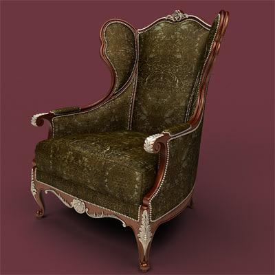 3ds max chair armchair