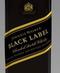 3d johnnie walker black label bottle
