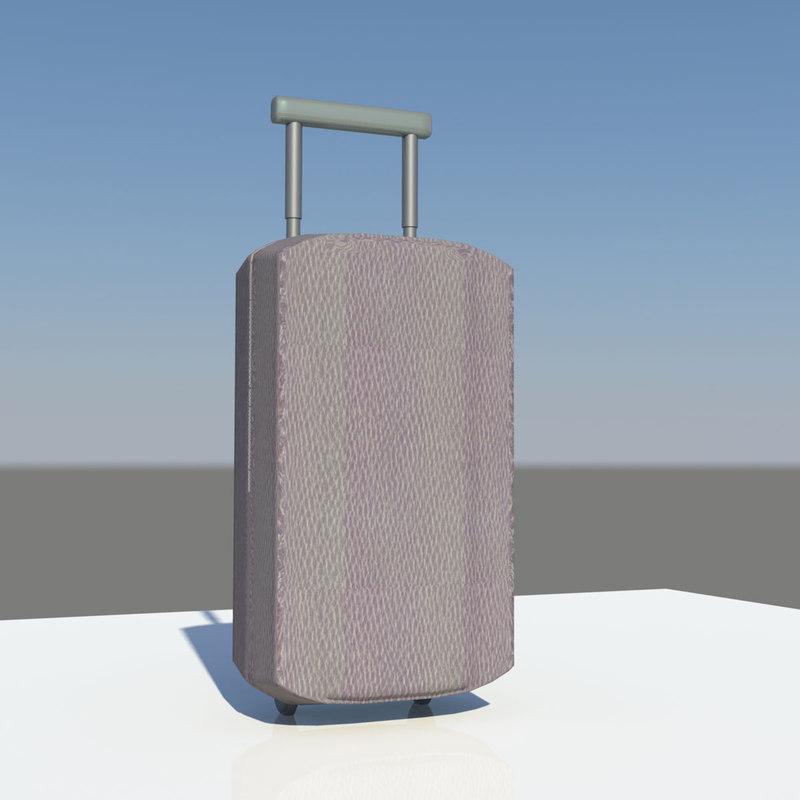 3d model suitcase