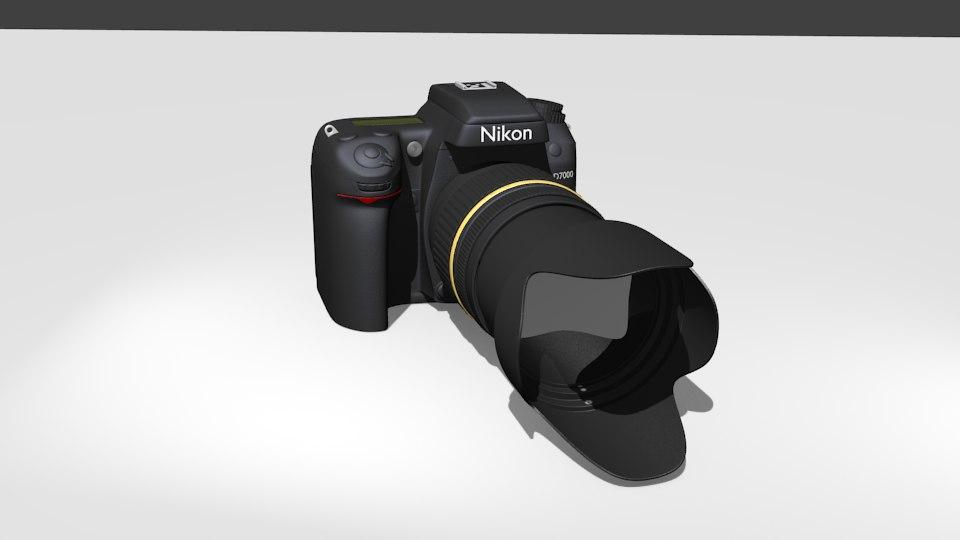 nikon d7000 camera 3d model