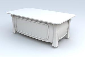 3d toon desk model