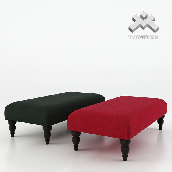 photorealistic vaughan express footstool 3d obj