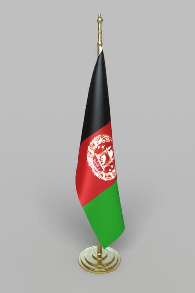 3d model flag afghanistan
