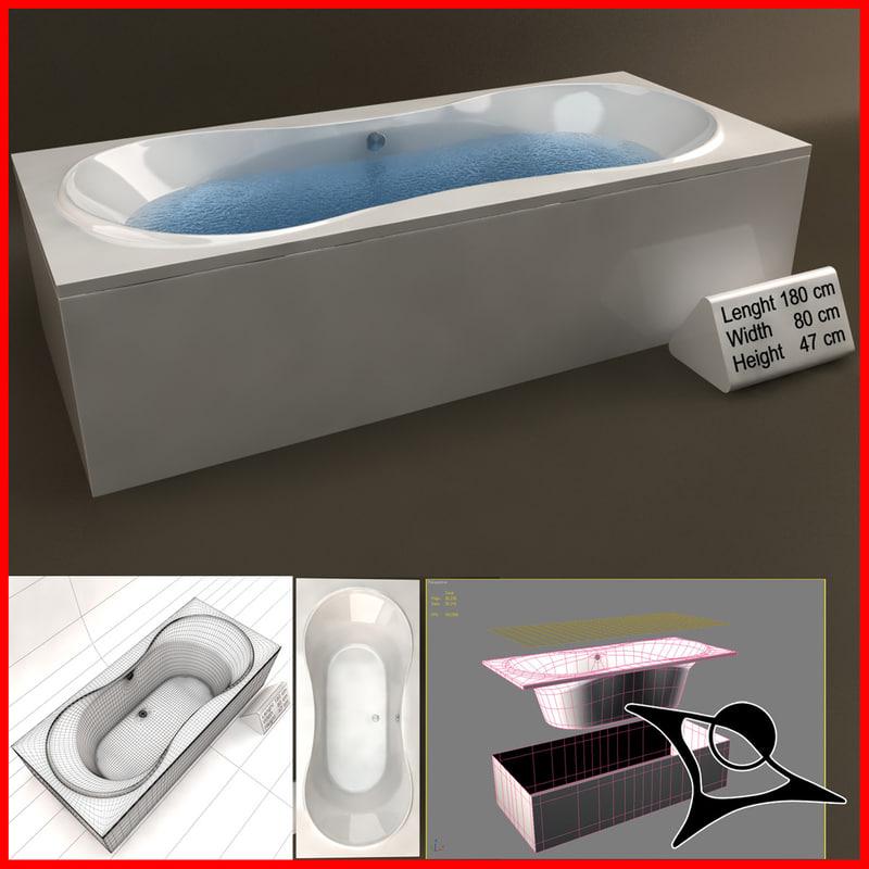 3d bath home tub