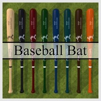 Low Polygon Baseball Bat