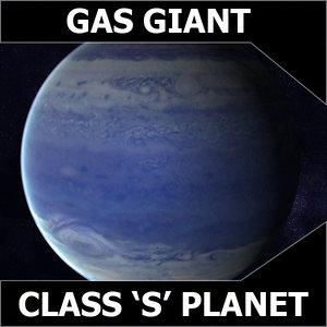 3d blue gas giant model