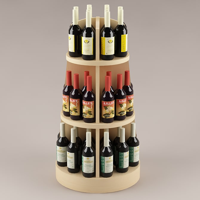 3d bottles shelf