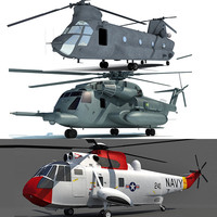 aircraft chinook helicopter 3d max