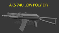 Aks 74u Low Poly DIY