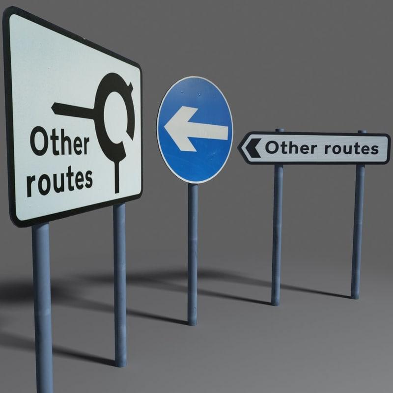 3d model of road signs coz110110629