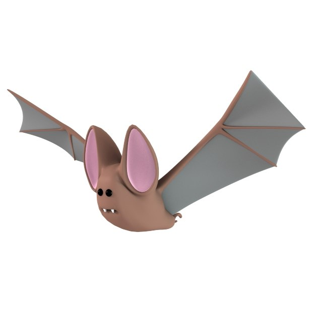 3d model cartoon bat