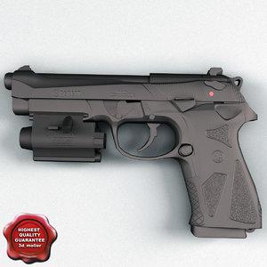 3d beretta 90 low-poly model