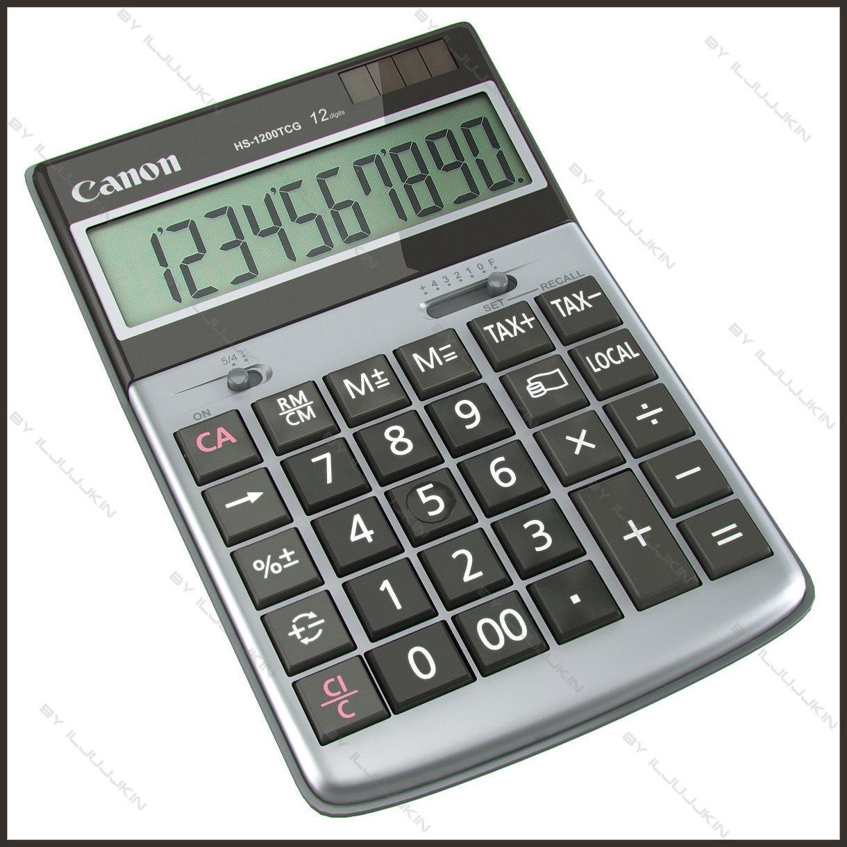 calculator canon hs 1200 3d model