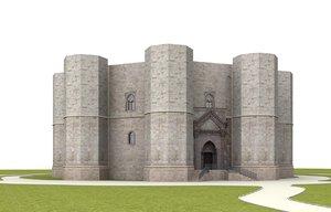 3d castel del monte apulia model