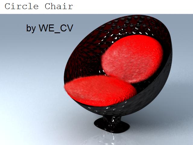 free circle chair 3d model
